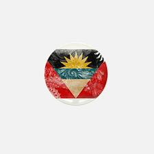 Antigua and Barbuda Flag Mini Button