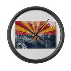 Arizona Flag Large Wall Clock