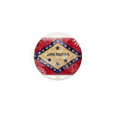 Arkansas Flag Mini Button (10 pack)