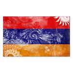 Armenia Flag Sticker (Rectangle 50 pk)
