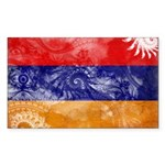 Armenia Flag Sticker (Rectangle 10 pk)