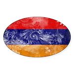 Armenia Flag Sticker (Oval 50 pk)