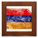 Armenia Flag Framed Tile