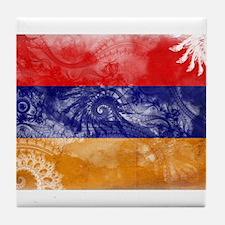 Armenia Flag Tile Coaster