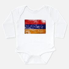 Armenia Flag Long Sleeve Infant Bodysuit