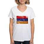 Armenia Flag Women's V-Neck T-Shirt
