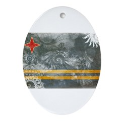 Aruba Flag Ornament (Oval)