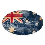 Australia Flag Sticker (Oval 50 pk)