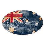 Australia Flag Sticker (Oval 10 pk)