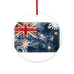 Australia Flag Ornament (Round)
