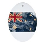 Australia Flag Ornament (Oval)
