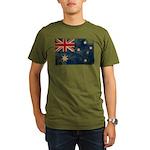 Australia Flag Organic Men's T-Shirt (dark)