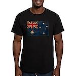 Australia Flag Men's Fitted T-Shirt (dark)