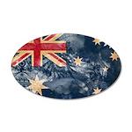 Australia Flag 38.5 x 24.5 Oval Wall Peel