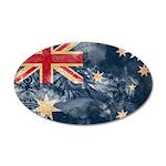 Australia Flag 22x14 Oval Wall Peel