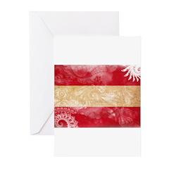 Austria Flag Greeting Cards (Pk of 20)