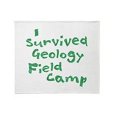 Geology Field Camp Throw Blanket