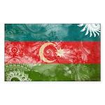 Azerbaijan Flag Sticker (Rectangle 10 pk)