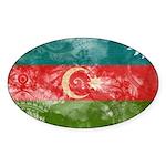 Azerbaijan Flag Sticker (Oval 50 pk)