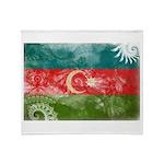 Azerbaijan Flag Throw Blanket