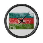 Azerbaijan Flag Large Wall Clock