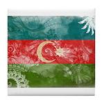 Azerbaijan Flag Tile Coaster