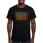 Azerbaijan Flag Men's Fitted T-Shirt (dark)