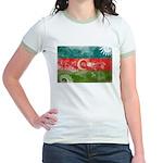 Azerbaijan Flag Jr. Ringer T-Shirt