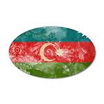 Azerbaijan Flag 38.5 x 24.5 Oval Wall Peel