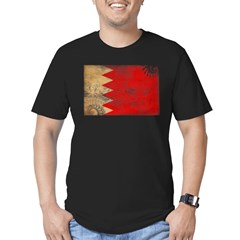 Bahrain Flag Men's Fitted T-Shirt (dark)