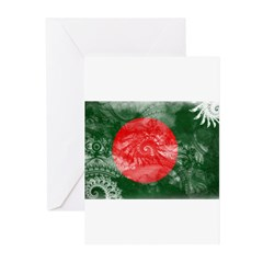 Bangladesh Flag Greeting Cards (Pk of 20)