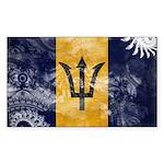 Barbados Flag Sticker (Rectangle 10 pk)