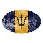 Barbados Flag Sticker (Oval 10 pk)