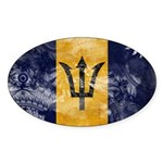 Barbados Flag Sticker (Oval)