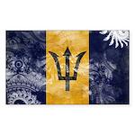 Barbados Flag Sticker (Rectangle)
