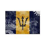 Barbados Flag Rectangle Magnet