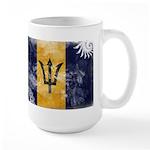 Barbados Flag Large Mug