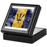 Barbados Flag Keepsake Box