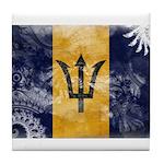 Barbados Flag Tile Coaster