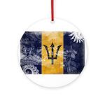 Barbados Flag Ornament (Round)