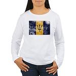 Barbados Flag Women's Long Sleeve T-Shirt