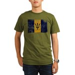Barbados Flag Organic Men's T-Shirt (dark)