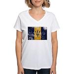 Barbados Flag Women's V-Neck T-Shirt
