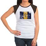 Barbados Flag Women's Cap Sleeve T-Shirt