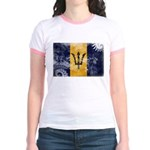 Barbados Flag Jr. Ringer T-Shirt