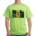 Barbados Flag Green T-Shirt