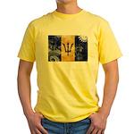 Barbados Flag Yellow T-Shirt