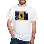 Barbados Flag White T-Shirt