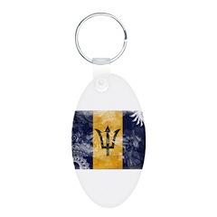 Barbados Flag Keychains