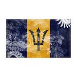 Barbados Flag 38.5 x 24.5 Wall Peel